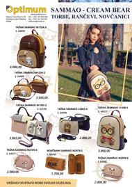 Sammao - Cream Bear, torbe, rančevi i novčanici
